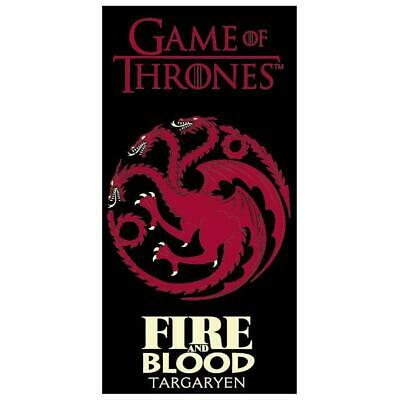Game of Thrones House Targaryen Beach Towel Fire and Blood Summer Holiday Gift