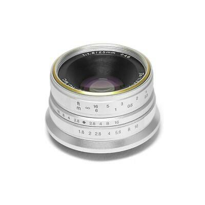 7artisans Photoelectric 25mm f/1.8 Lens for Micro Four Thirds Mount - Silver
