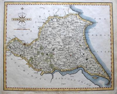 YORKSHIRE  EAST RIDING YORK BEVERLEY BY JOHN CARY GENUINE ANTIQUE MAP  c1793