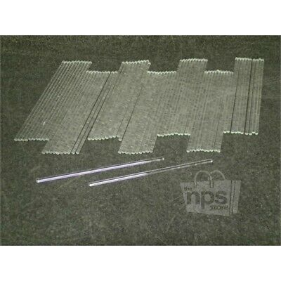 Pack of 72 Fisher Scientific 11380C Glass Stirring Rods, 200mm L x 5mm Dia.
