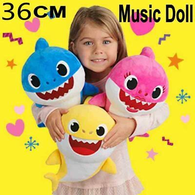 2019 Hot Baby Shark Plush Singing Toy Music Doll English Song Stuffed Kids Gift