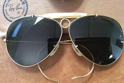 a8df577ec3 RAY BAN Vintage Bausch & Lomb Sonnenbrille1960-1970 Bullet Hole Shooter  Aviator