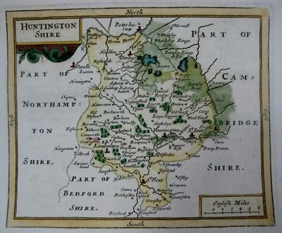 HUNTINGDONSHIRE CAMBRIDGESHIRE  BY  SELLER  / GROSE GENUINE ANTIQUE MAP  c1787