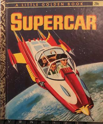 Supercar George Sherman 1962 A Little Golden Book Golden Press Gerry Anderson