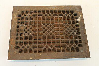 Vintage Cast Iron Louvered Heat Duct Grate  1900 era Salvaged Hardware