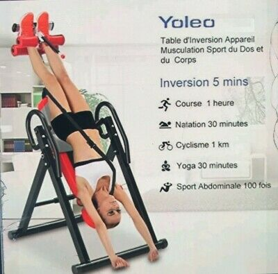 Table D'inversion Pliable Musculation/Appareil Dos Bras Sport