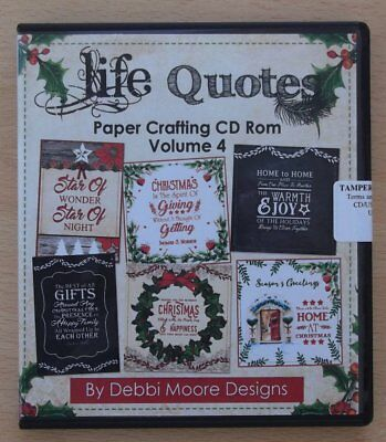 Debbi Moore Designs Christmas Life Quotes Volume 4 Papercrafting CD-ROM