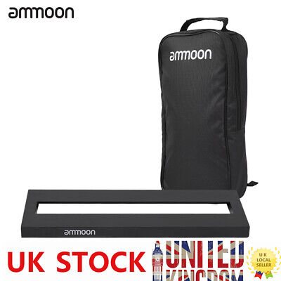 ammoon DB-1 Aluminum Alloy Guitar Pedal Board with Carrying Bag Tapes J9R0