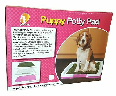 LARGEPet Dog Toilet Mat Indoor Restroom Training Grass Potty Pad Loo Tray Puppy