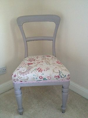 Victorian Chair Upcycled Annie Slone Painted Lilac - Bedroom Hall Lounge Dining.