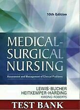 TEST BANK Lewis Medical Surgical Nursing 10th Edition ⭐️SEE NOTE⭐️