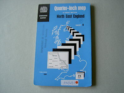 Ordnance Survey OS Quarter-Inch Map Sheet 9: North East England '64 Map