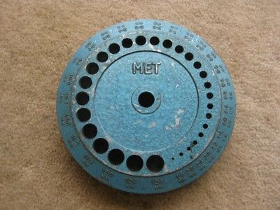 Hard To Find Vintage Met/Folley Diecast 28 Hole Drill Stand Metric (Mm) Sizes