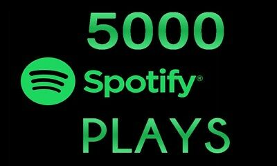 5000 Premium Spotify Streams (Deutsche).