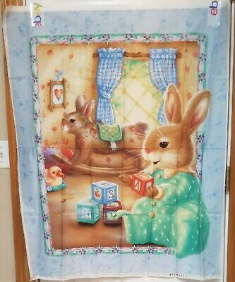 Lovely Toys Baby Quilt Panel by David Textiles + Coordinating Fabric