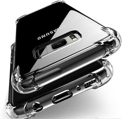 For Samsung S8 S9 S10 Plus Case ShockProof Hard edge Bumper Note 8 9 Clear Cover