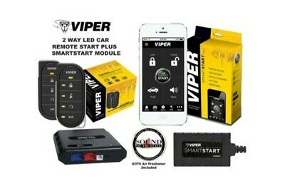 Viper 4806V 2 Way LED Remote Start System with 1 Mile Range Bundled with Bypass
