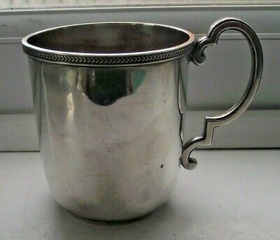 ANTIQUE 1923 STERLING SILVER HALLMARKED CUP TANKARD 148g WALKER & HALL BLANK