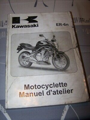 HN Manuel d'atelier/Workshop service Manual Kawasaki Motocyclette ER-6n