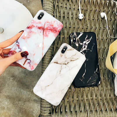 For Apple iPhone XS Max XR 8 7 6 Plus Personalised Marble Phone Case Phone Cover