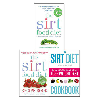 Sirtfood Diet Collection 3 Books Set Superfoods, Diet Plans, Health Weight Loss