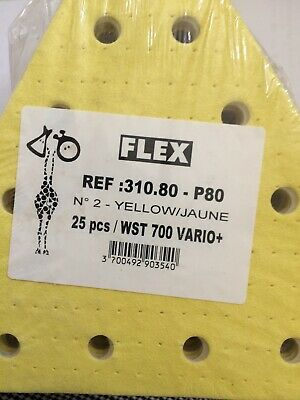 Flex 310.80 P80 Abrasif Triangulaire 25Pces