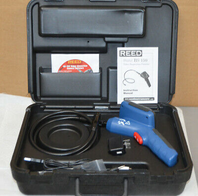 REED BS-150 Borescope Video Inspection Camera Recordable with Case & Accessories