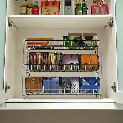 Stackable Metal Can Organizer Rack for Pantry Cupboard Cabinet Kitchen Storage