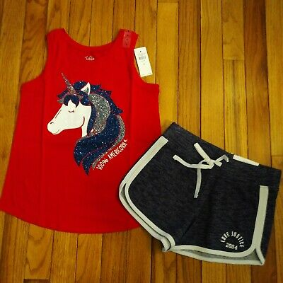 NWT Justice Girls Outfit Peek a Boo Top//Leggings Size 6 7 8 10 12 14 16