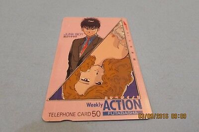 Junk Boy Weekly Action  Anime Manga Used Phonecard From Japan  (A4)
