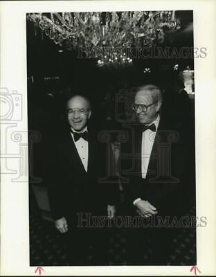 """1988 Press Photo John Duncan & Ken Lay at 12th annual """"People of Vision"""" dinner"""