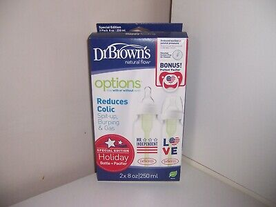Dr. Browns  Natural Flow Bottle Pacifier Little Boy Holiday Special Edition 8oz