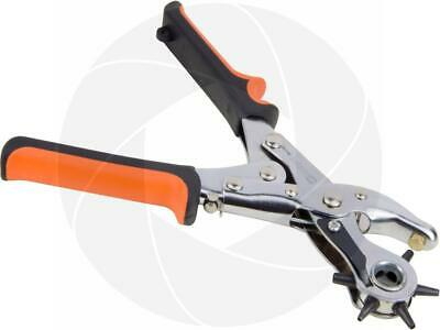 Heavy Duty Belt Leather Round Hole Puncher Punch Revolving Tool Pliers 2.0-4.5mm