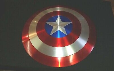 "Custom Captain America Shield 26"" Full Size Metal Prop Replica Avengers Display"