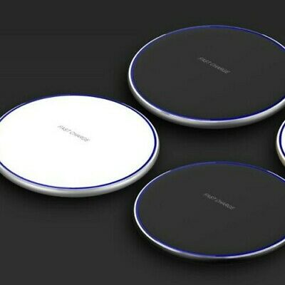 Luxury Qi Fast Wireless Charger For Samsung Galaxy S10 Plus S9 S8 S7 iphone 8 9