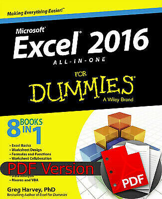 Microsoft Excel 2016 : All-in-One for Dummies (ebook/PDF)