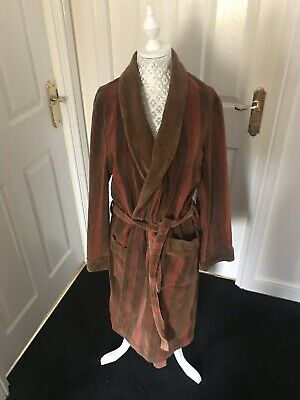 1970s -80S VINTAGE MENS SMOKING JACKET DRESSING GOWN HIPSTER GC 48 Chest