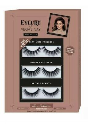 19c33fafa8a Eylure Vegas Nay False Eyelashes Luxe Collection Limited Edition 3 Pair  Lashes