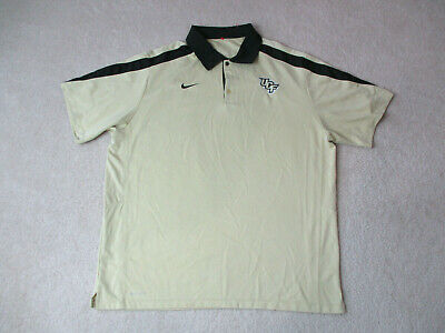 79ba0f0f NIKE University Central Florida Knights Polo Shirt Adult Extra Large Gold  DriFit