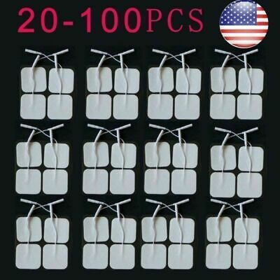 50x Replacement Tens Electrode Pads EMS for Units 7000 3000 4x4cm White Cloth US