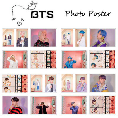 4Pc/Set KPOP BTS MAP OF THE SOUL PERSONA Wall Photo Poster Kraft Paper Wallpaper