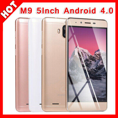M9 5INCH Android 4.0 Dual SIM Unlocked Mobile Phone HD display Smart Phone BI#