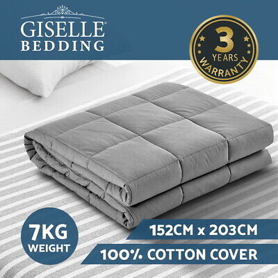 Giselle Bedding Cotton Weighted Gravity Blanket 7KG Deep Relax Calming Adult