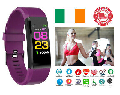 Smart Watch Fit Fitness Tracker Step Caolorie Bluetooth Fitbit Android iPhone