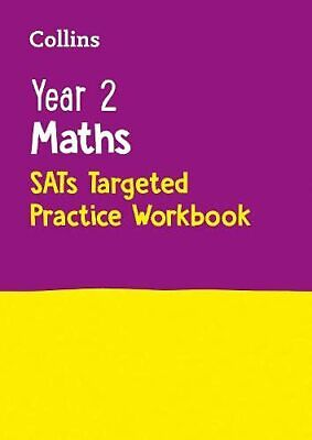 Year 2 Maths SATs Targeted Practice Workbook: by Collins KS1 NEW Paperback Book