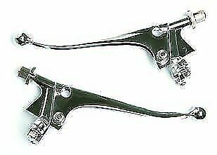 NEW Chrome Plated Steel Clutch and Brake Levers universal motorbikes moto