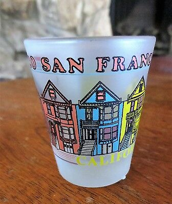 Vintage San Francisco Buildings California CA Souvenir Shot Glass Clear Used