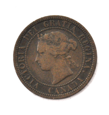 1901 1c Canada Large One Cent Penny KM#7  Bronze