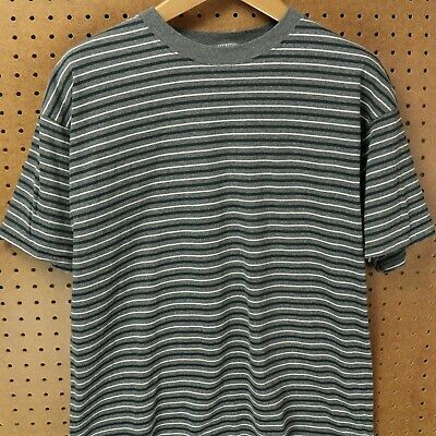 b561ccb111 vtg 90s usa made Hanes t-shirt surfer stripes drape boxy aesthetic skater  grunge