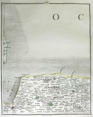 NORFOLK   FAKENHAM   KINGS LYNN   JOHN CARY GENUINE ANTIQUE MAP  c1794